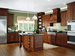 your cherry kitchen cabinets with wall paint