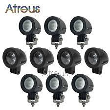 2 inch led spot light 10x 2inch 10w car led work light 12v round spot drl for atv 4x4