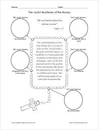 rosary for kids joyful mysteries of the rosary cut and paste activity that