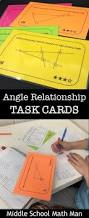 angle relationships task cards middle math middle
