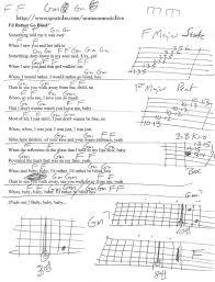 Blind Chart I U0027d Rather Go Blind Guitar Chord Chart Guitar Lesson Chord