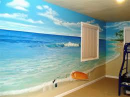 amazing beach themed bedroom designs with nice wall art howiezine
