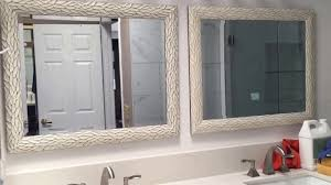 Frame Around Bathroom Mirror by How To Hang A Bathroom Mirror How To Build A Wood Frame Around