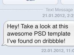 freebie ios sms gui template by alexey chistyakov dribbble