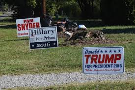 how to prevent theft of political lawn signs try dog