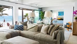 Coastal Homes Decor Malibu Beach House With Colorful Coastal Interior Decor