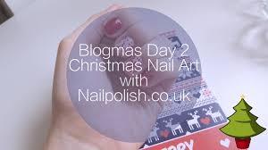 angel flicks blogmas day 2 christmas nail art with nailpolish