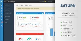 saturn responsive admin dashboard template by osetin themeforest
