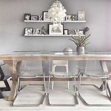 Lucite Chairs Ikea Clear Chairs Lighten Small Space Norden White Table Tobias