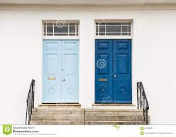 Entrance Doors Two Georgian Style Front Entrance Doors Stock Photo Image