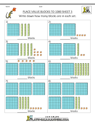 place value to 1000 worksheets free worksheets library download