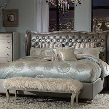 Hollywood Bedroom Set by Michael Amini Hollywood Swank Metallic Graphite Bedroom Set