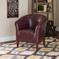 linon home decor simon blackberry vinyl club arm chair 36077ber 01