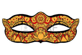 ornamental mask vector illustration royalty free