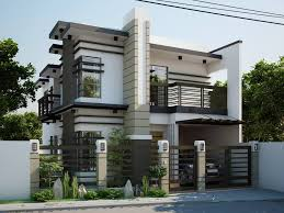 2 storey house simple modern 2 storey house designs modern house plan