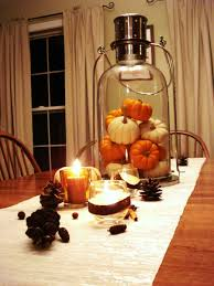 Cute Kitchen Decor by Kitchen Romantic Dining Table Decoration With Small Pumpkins