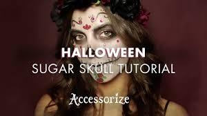 Sugar Skull Halloween Makeup Tutorial by Halloween Sugar Skull Make Up Tutorial Accessorize Youtube