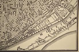 Map St Louis St Louis Map St Louis Street Map Vintage 1930s 1935 Original
