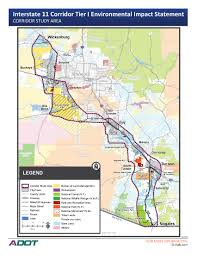 Northern Arizona Map by Adot Launches Interstate 11 Environmental Study From Nogales To