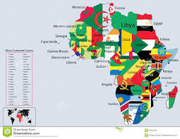 Africa Continent Map by Africa Wildlife Map Design Stock Photo Image 39826702