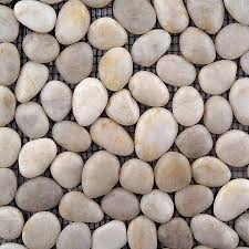 Lowes Pebble Rocks by Shop Solistone Anatolia Pebbles 10 Pack White Onyx Mosaic Floor