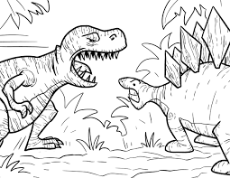 interesting rex color rex dinosaurs coloring pages