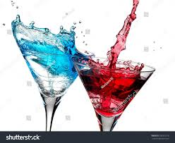 blue cocktails red blue cocktails splash stock photo 105351218 shutterstock