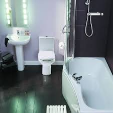 nice bathroom ideas with modern pedestal sink with mirror lighting