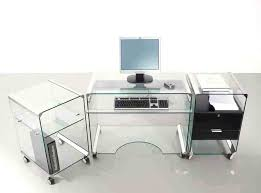 Home Office Glass Desks Chrome And Glass Desk Fabulous Home Office Decoration Design With