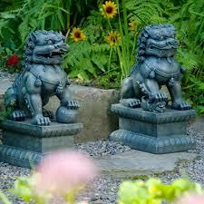 foo dogs garden statues green dharmacrafts