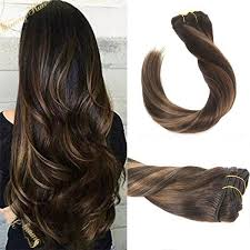 balayage hair extensions clip in balayage hair extensions remy human hair chestnut brown