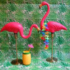 pink flamingo l with gold base vintage classic don