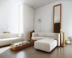 white concrete wall house hall room that has brown modern floor