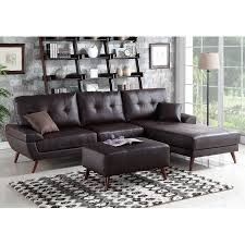 Contemporary Sectional Sofa With Chaise 1perfectchoice Contemporary Sectional Sofa Chaise Ottoman Set