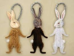 bunny rabbit ornaments easter decorations dma