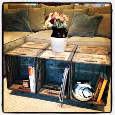 Diy Wood Crate Coffee Table by Upcycled Milk Crates Into Coffee Table Homey Pinterest Milk