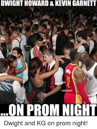 Dwight Howard Memes - dwight howard kevin garnett on prom night dwight and kg on prom