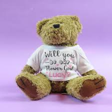 flower girl teddy gift will you be our flowergirl flower girl teddy present teddy