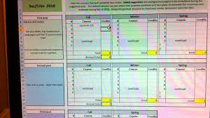 excel template planner ou soc crim course planning template in excel youtube