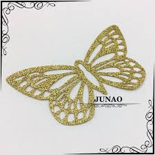 cheap gold glitter butterfly hotfix motifs iron on heat
