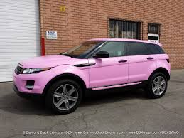 range rover pink and black range rover evoque wrapped in satin bubble gum pink avery by dbx