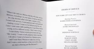 Funeral Programs Order Of Service Funeral Program Photos Stars Say Goodbye At Joan Rivers