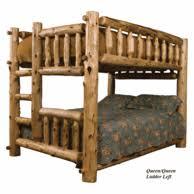Queen Over Queen Log Bunk Beds Full Bunk Beds - Queen over queen bunk bed