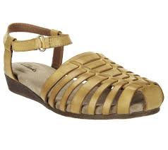 clarks huarache wedge leather sandals jaina canary page 1