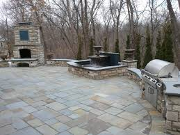 patio grill patio outdoor grill fireplace stairs traditional