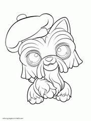 littlest pet shop coloring pages of dogs littlest pet shop lps coloring pages