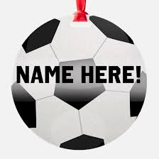 soccer ornaments to personalize soccer christmas ornament cafepress