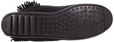 leather bike shoes minnetonka hi tramper womens black leather fashion ankle boots