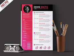 resume template for free to use modern resume cv template free psd psdfreebies com