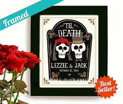 halloween wedding gift personalized art day of the dead
